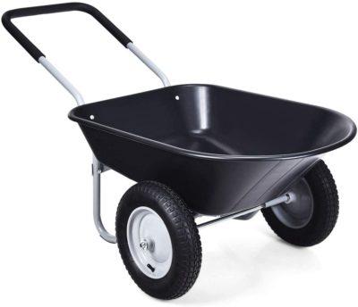 Goplus Dual Two Wheel Wheelbarrows